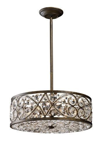 ELK Lighting 11287-6 Amherst Six Light Pendant In Antique Bronze from ELK Lighting