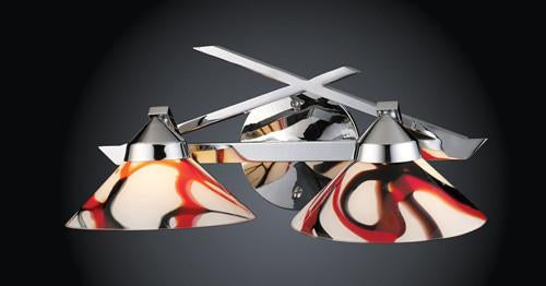 ELK Lighting 1471-2Crw Two Light Wall Bracket In Polished Chrome And Creme White Glass from ELK Lighting