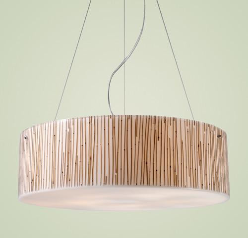 ELK Lighting 19063-5 Modern Organics-Five Light Pendant In Bamboo Stem Material In Polished Chrome from ELK Lighting