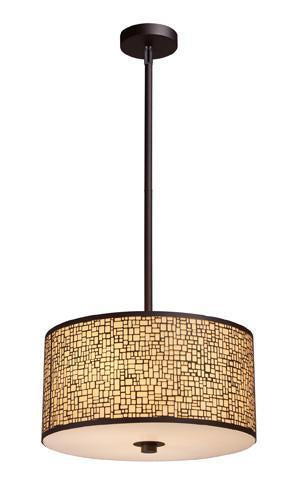 ELK Lighting 31046-3 Medina Three Light Pendant In Aged Bronze from ELK Lighting