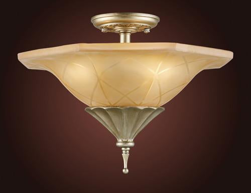 ELK Lighting 3825-3 Three Light Semi Flush With Embedded Crystal from ELK Lighting