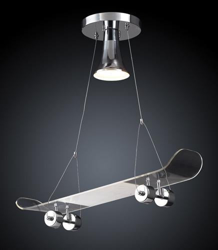 ELK Lighting 5112-1 One Light Skateboard Pendant In Chrome from ELK Lighting