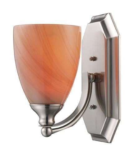 ELK Lighting 570-1N-Sy One Light Vanity In Satin Nickel And Sandy Glass from ELK Lighting