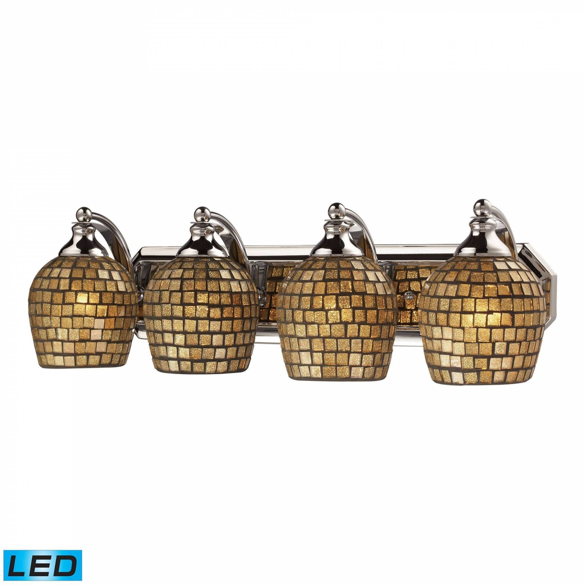 ELK Lighting 570-4C-GLD-LED Bath And Spa Collection Polished Chrome Finish from ELK Lighting