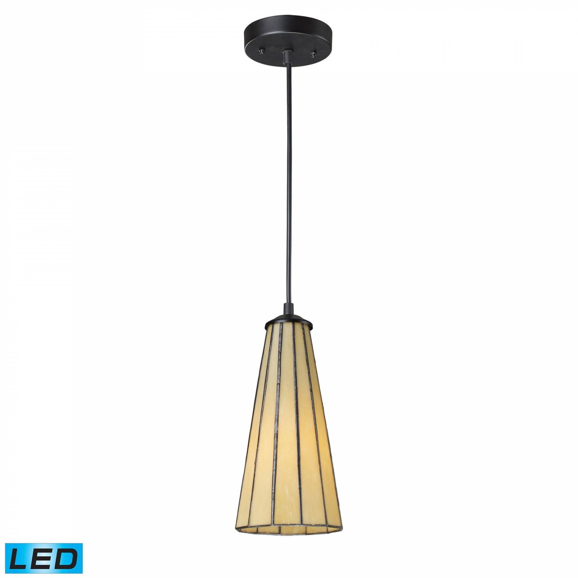 ELK Lighting 70000-1HB-LED Lumino Collection Hazy Beige,Matte Black Finish from ELK Lighting