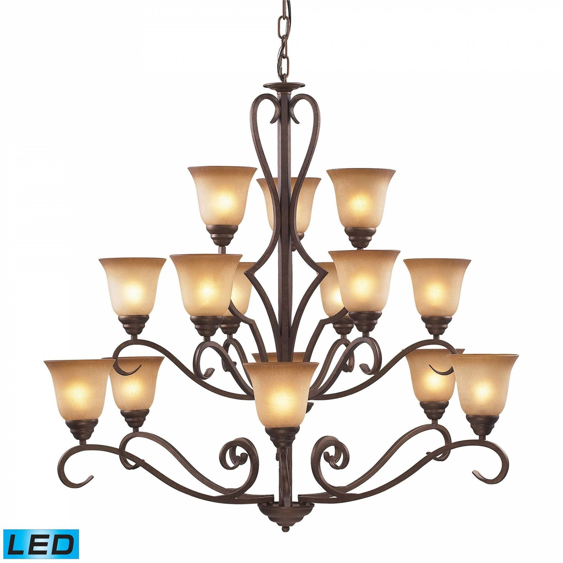 ELK Lighting 9330/6 6 3-LED Lawrenceville Collection Mocha Finish from ELK Lighting