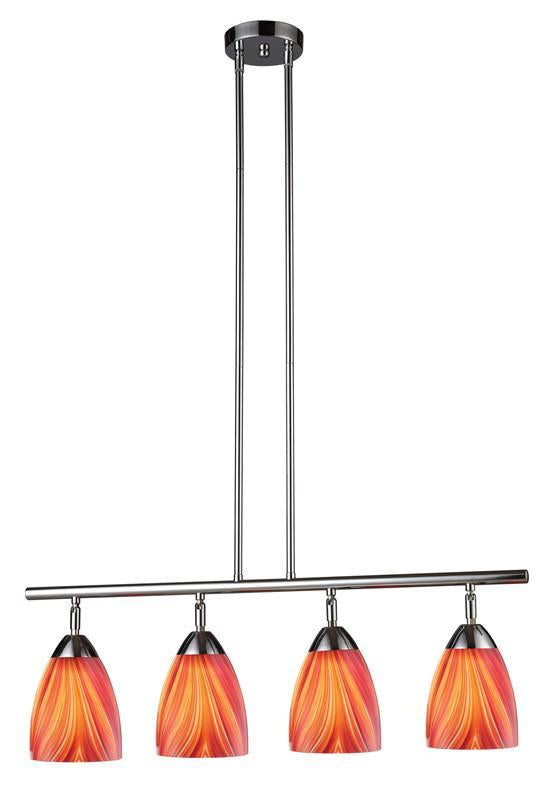 ELK Lighting Celina Celina 4-Light Linear In Polished Chrome And Multi Glass - 10153/4PC-M from ELK Lighting
