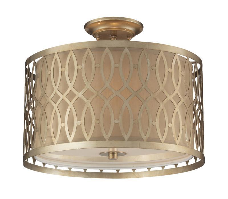 ELK Lighting Estonia 3- Light Semi-Flush In Aged Silver - 31122/3 from ELK Lighting
