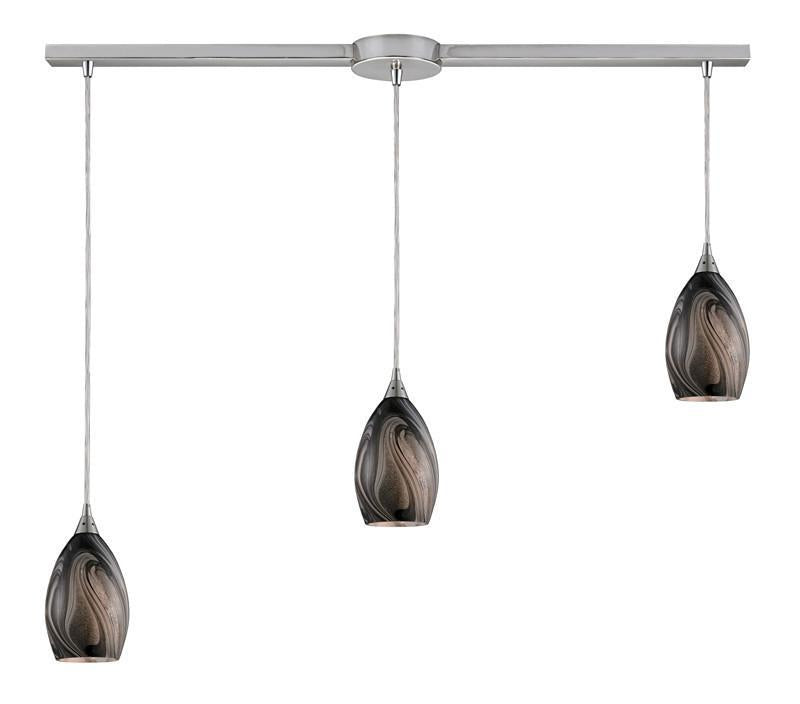 ELK Lighting Formations/Ashflow 3- Light Pendant In Satin Nickel - 31133/3L-ASH from ELK Lighting