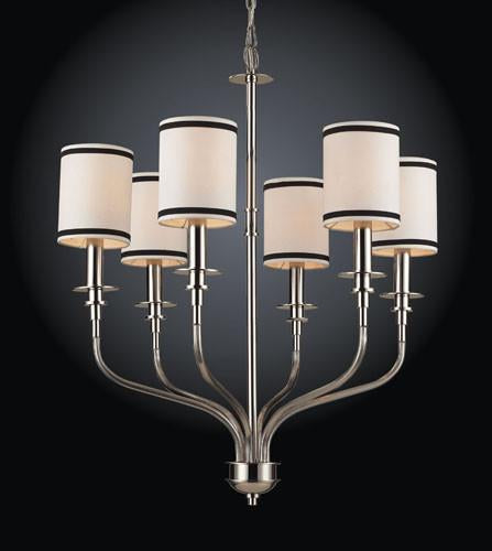 ELK Lighting Lighting 1625-6 Six Light Chandelier In Polished Nickel from ELK Lighting