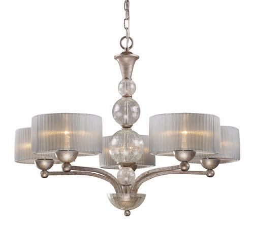 ELK Lighting Lighting 20009-5 Alexis Five Light Chandelier In Antique Silver from ELK Lighting