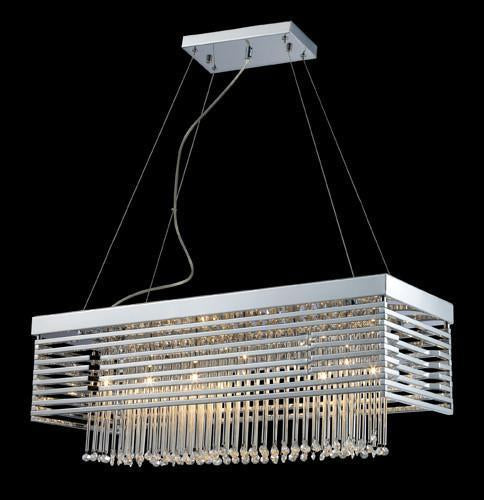 ELK Lighting Lighting 30020-12 Cortina 1Two Light Chandelier In Polished Chrome from ELK Lighting