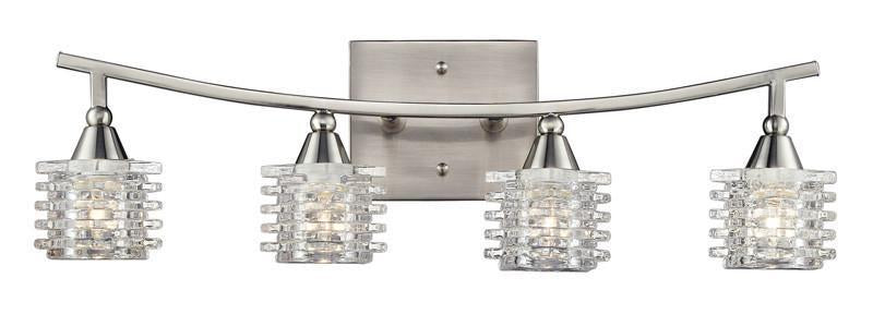 ELK Lighting Matrix 4- Light Bathbar In Satin Nickel - 17132/4 from ELK Lighting