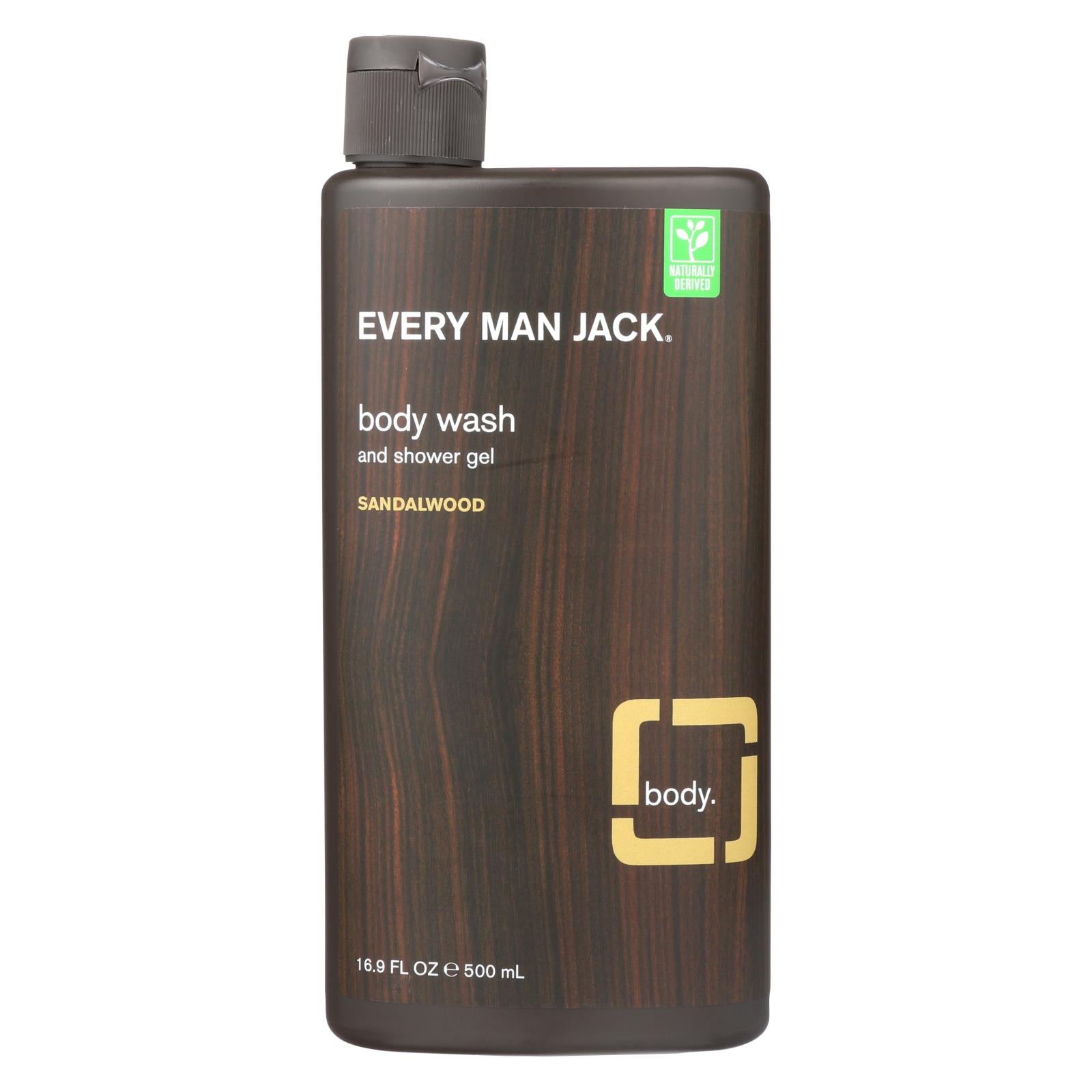 Every Man Jack Body Wash Sandalwood - Case Of 16.9 - 16.9 Fl Oz. from EVERY MAN JACK