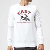 East Mississippi Community College Helmet Sweatshirt - White - M - White from East Mississippi Community College