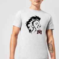 East Mississippi Community College Lion Head and Logo Men's T-Shirt - Grey - XL - Grey from East Mississippi Community College