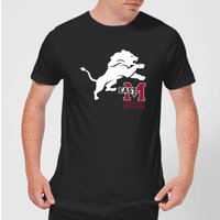 East Mississippi Community College Lion and Logo Men's T-Shirt - Black - L - Black from East Mississippi Community College