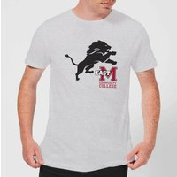 East Mississippi Community College Lion and Logo Men's T-Shirt - Grey - M - Grey from East Mississippi Community College