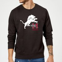 East Mississippi Community College Lion and Logo Sweatshirt - Black - S - Black from East Mississippi Community College