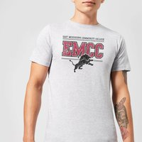 East Mississippi Community College Lions Distressed Men's T-Shirt - Grey - L - Grey from East Mississippi Community College