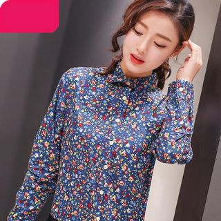 Floral Print Long-Sleeve Blouse from Eferu