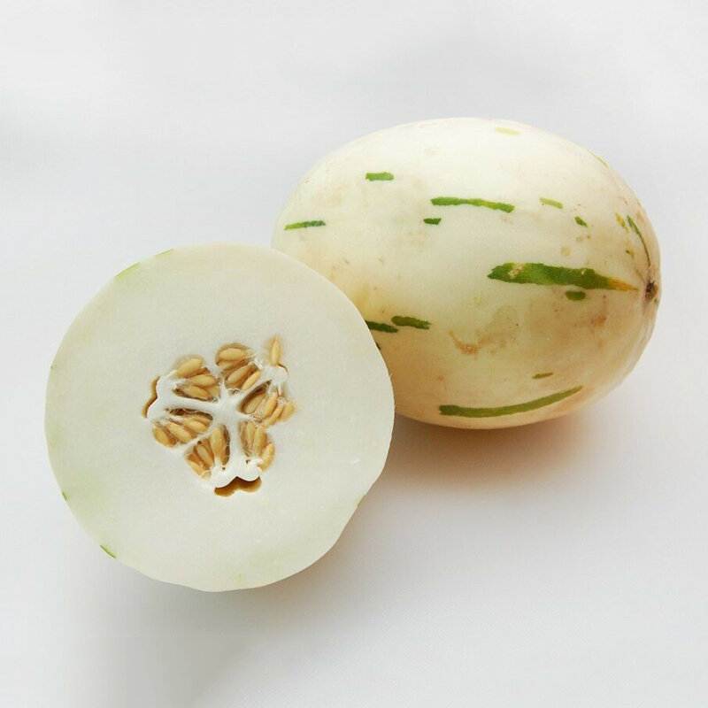 Egrow 20 Pcs/Pack White Muskmelon Seeds Sweet Melon Fruit Vegetable for Home Garden Plant from Egrow
