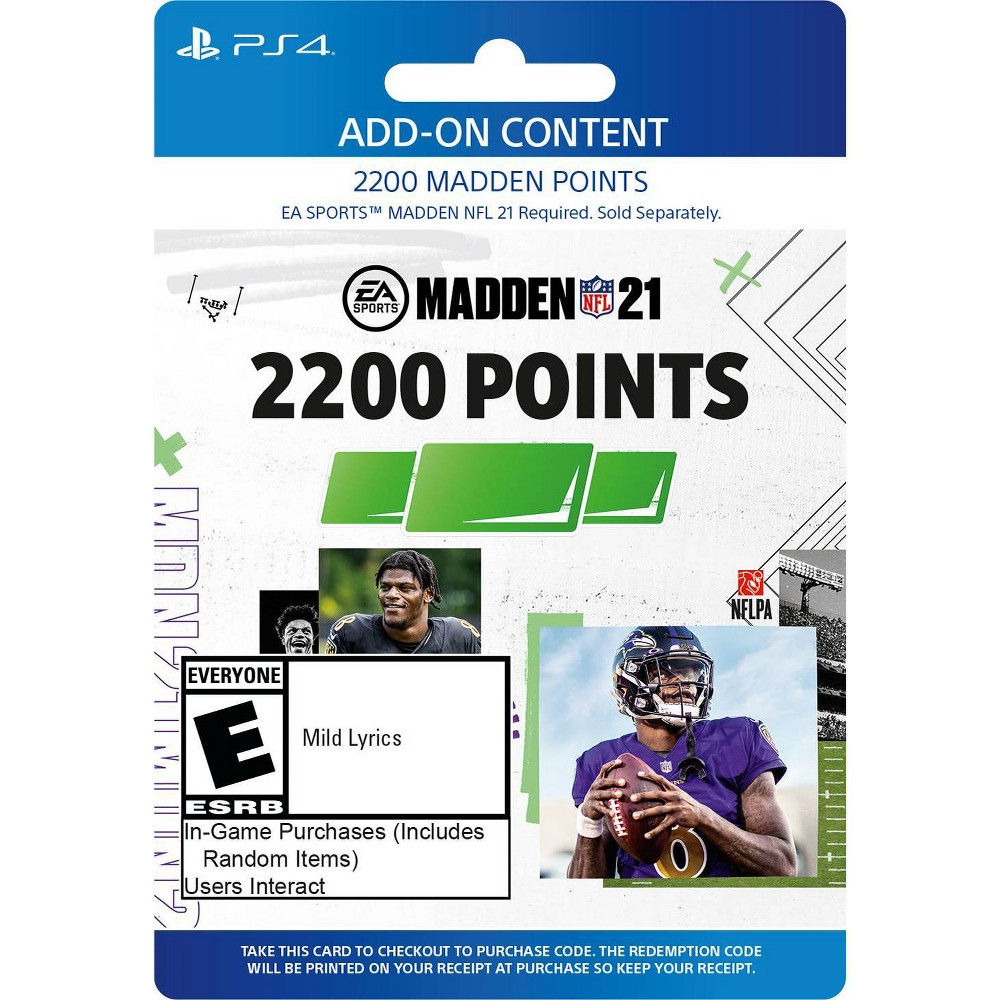 Madden NFL 21: 2200 Madden Points - PlayStation 4/5 (Digital) from Electronic Arts