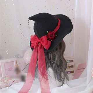 Bow Accent Witch Hat from Elfis