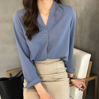 V-Neck Chiffon Blouse from Elvik