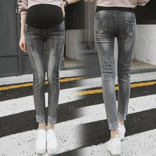 Maternity Ripped Skinny Jeans from Empressa