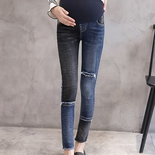 Maternity Ripped Washed Skinny Jeans from Empressa