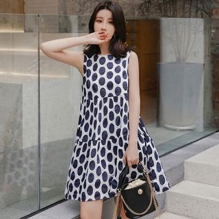 Maternity Sleeveless Dotted A-Line Dress from Empressa