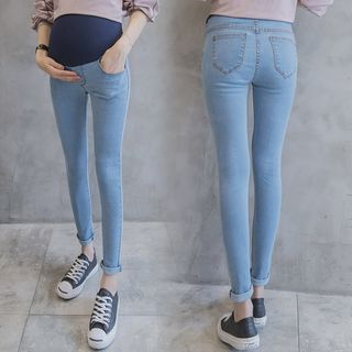 Maternity Washed Skinny Jeans from Empressa
