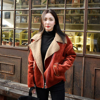Faux-Shearling Rider Jacket from Envy Look