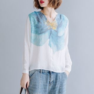 Long-Sleeve Floral Print Top from Epoch