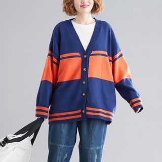 Paneled Cardigan As Shown In Figure - One Size from Epoch