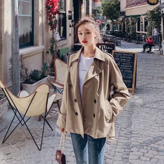 Double-Breasted Trench Jacket from Estacion