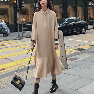 Long-Sleeve Midi Polo Dress from Estacion