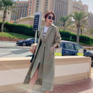 Mock Two-Piece Belted Trench Coat from Estacion