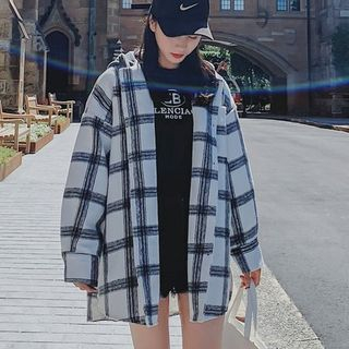 Plaid Hooded Jacket from Estacion