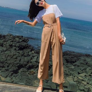Short-Sleeve Wide Leg Jumpsuit from Estacion