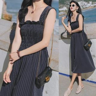 Square Neck Striped Dress from Estacion