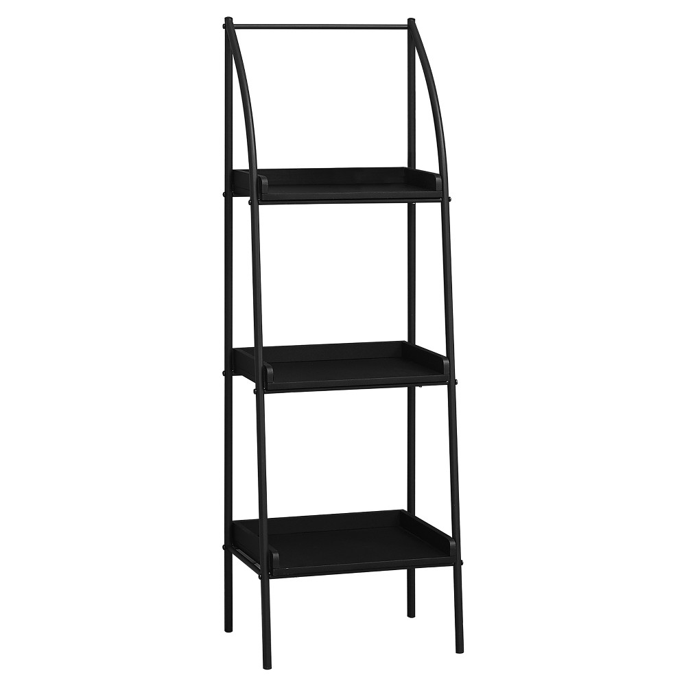 "48"" Metal Bookcase Black - EveryRoom from EveryRoom"