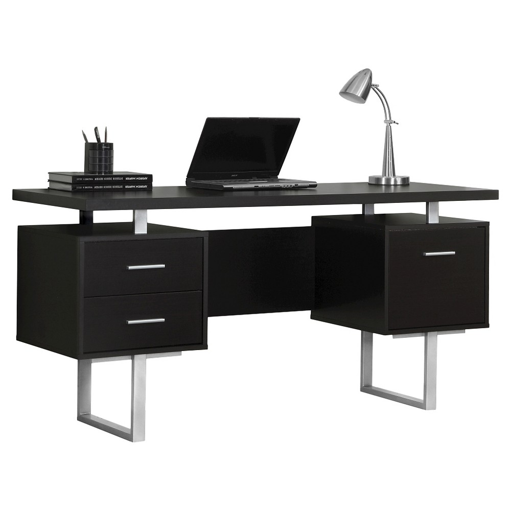 Modern Computer Desk Cappuccino - EveryRoom from EveryRoom