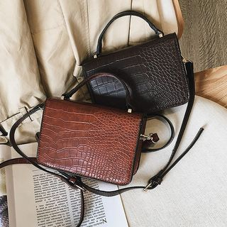 Croc Grain Crossbody Bag from FAYLE