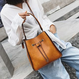 Faux Leather Bucket Bag from FAYLE