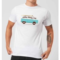 Florent Bodart Blue Van Men's T-Shirt - White - M - White from FLORENT BODART