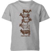 Florent Bodart Cow Cow Nuts Kids' T-Shirt - Grey - 9-10 Years - Grey from FLORENT BODART