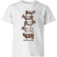 Florent Bodart Cow Cow Nuts Kids' T-Shirt - White - 7-8 Years - White from FLORENT BODART