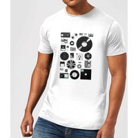 Florent Bodart Data Men's T-Shirt - White - XXL - White from FLORENT BODART